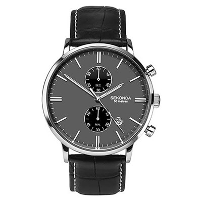 Sekonda Gents Multifunction Dress Watch with Genuine Leather Strap