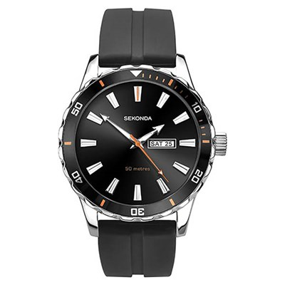 Sekonda Gents Sports Watch on Silicone Strap