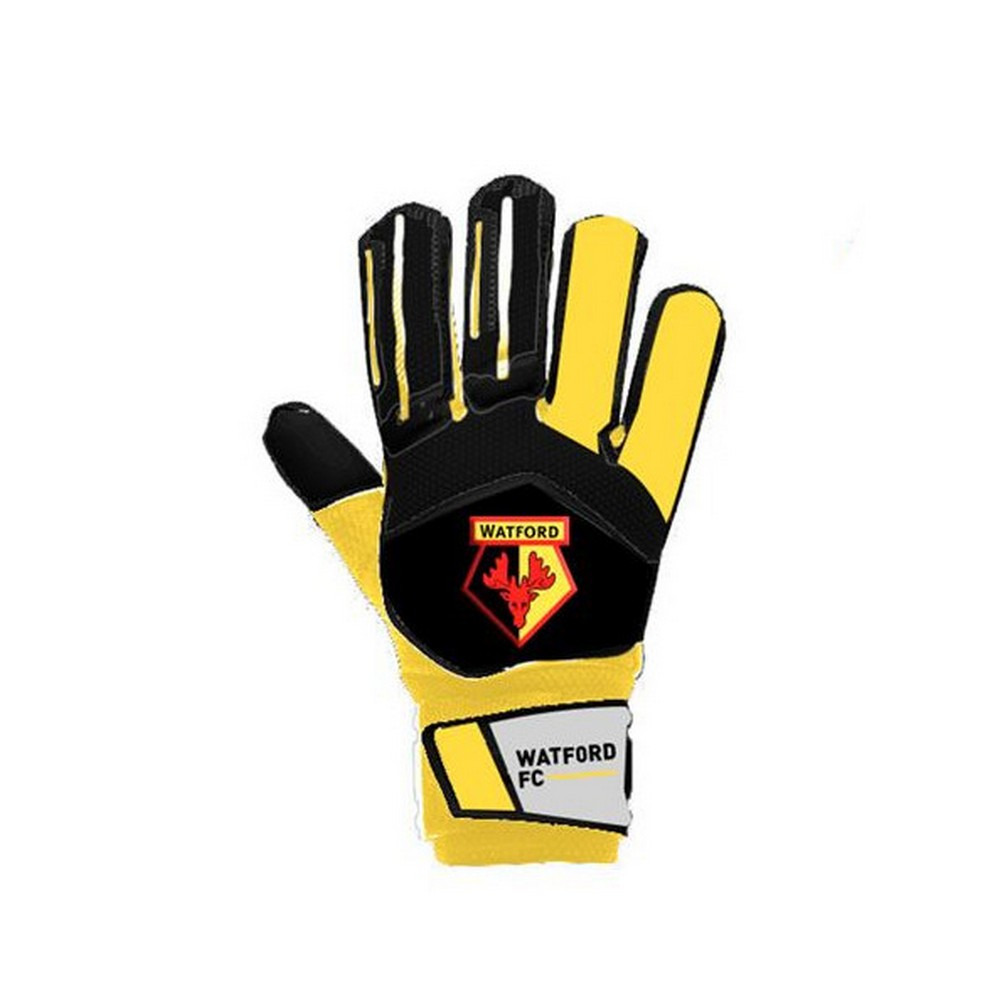 Watford FC Childrens/Kids Goalkeeper Gloves