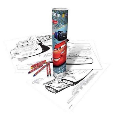 Disney Cars Poster Colour-In Art Tube