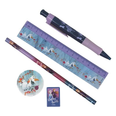 Frozen 2 5 Piece Pencil Case Set