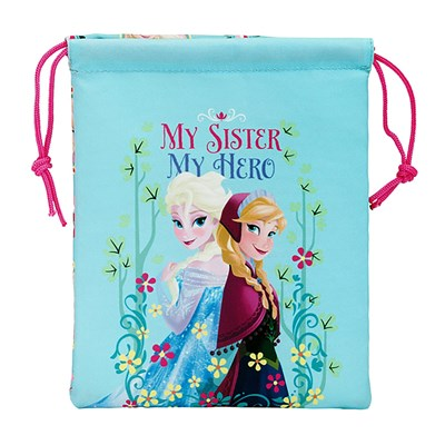 Frozen Childrens/Girls Official My Sister My Hero Drawstring Lunch Bag