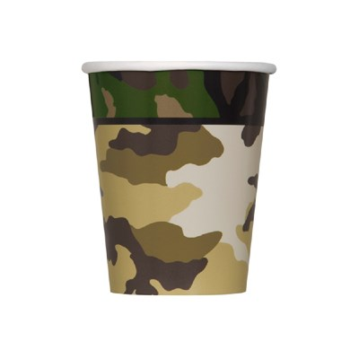 Unique Party Military Camo 9oz Cups (Pack of 8)