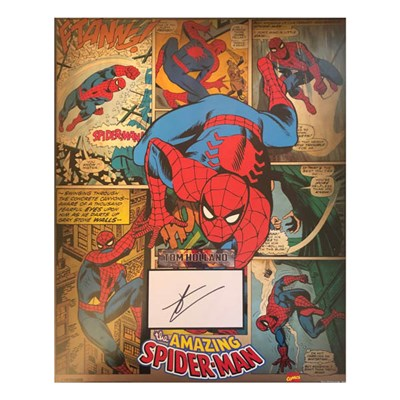 Tom Holland as Spider-Man Framed Photo Poster Display Personally Signed
