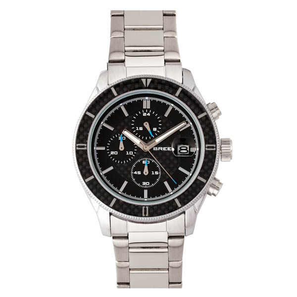 Breed Gent's Maverick Watch with Stainless Steel Bracelet Silver