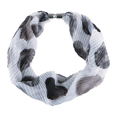 Spot Print Pleated Magnetic Scarf