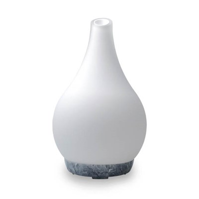 Cello Frosted Art Glass Large Ultrasonic Diffuser with 15ml Fragrance Oil