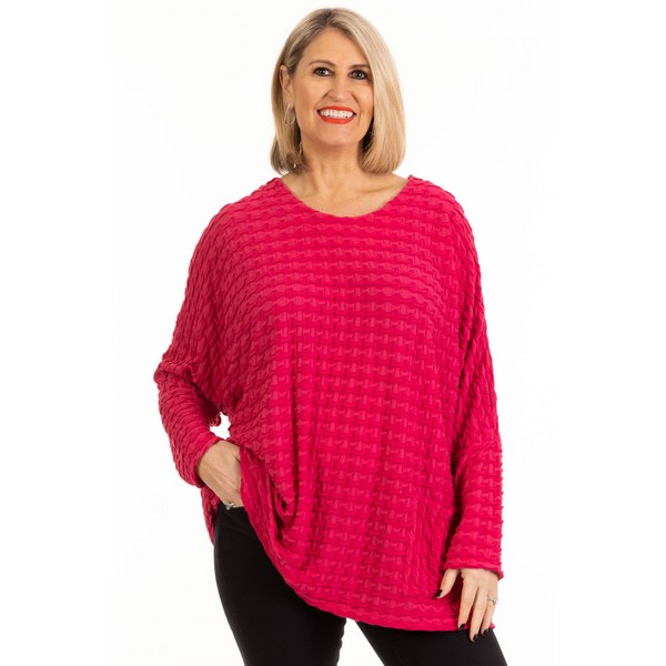 Fizz Raspberry Embossed One Pocket Top One Size Raspberry