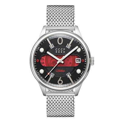 CCCP Gent's Korolev Slava Automatic Watch with Milanese Bracelet