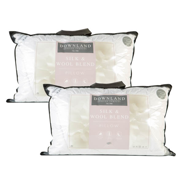 Downland Mulberry Silk & Wool T300 Surround Pillow Pair No Colour