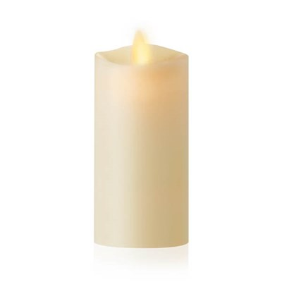 Luminara Ivory Pillar Candle with Wax Finish and IR Enabled (5cm x 10.8cm)