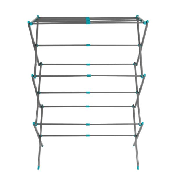 Beldray LA077615EU7 Three Tier Expandable Clothes Airer, Turquoise and Grey No Colour
