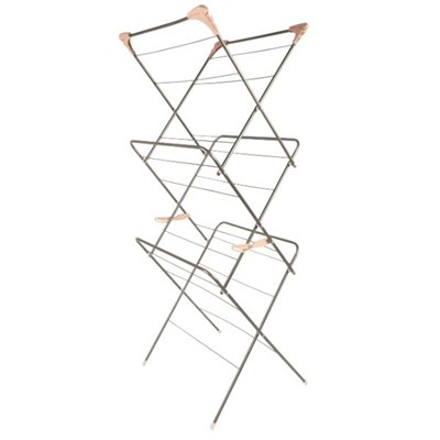 Beldray LA072498GRYEU 3 Tier Clothes Airer, Graphite Grey