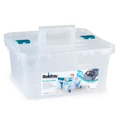 Beldray LA036735CLR DIY, Small Caddy with Lid,  Clear