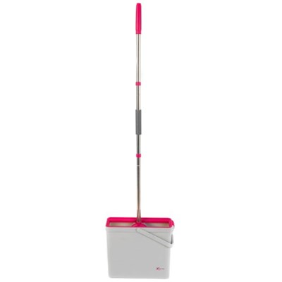 Kleeneze KL066831EU PVA Floor Mop And Bucket Set, Pink and Grey