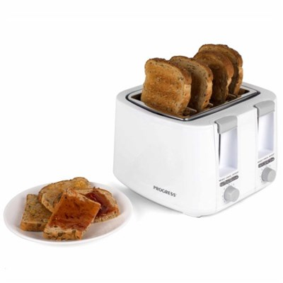 Progress EK3394P Four Slice Toaster , White