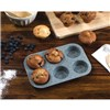 Salter BW02778G Marble Collection Non Stick 6 Cup Muffin Tray, Grey