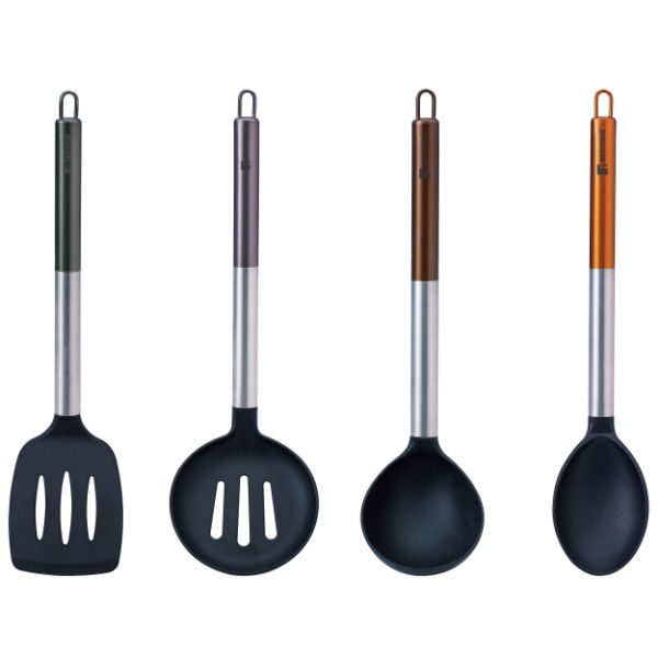 Bergner BG-1352-MT Neon Classic 4-Piece Kitchen Tool Utensil Set No Colour