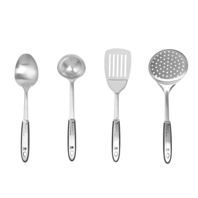 Bergner BGMP-4800 MasterPro Gravity 4-Piece Stainless Steel Utensil Set