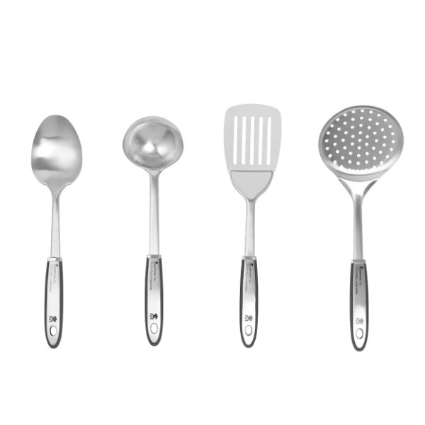 Bergner BGMP-4800 MasterPro Gravity 4-Piece Stainless Steel Utensil Set No Colour