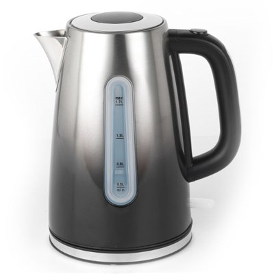 Progress EK3865PBLK Ombre Stainless Steel Jug Kettle, 1.7 L, Black