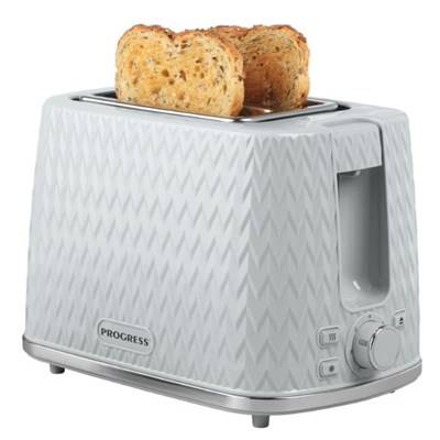 Progress EK3860PGRY Chevron 2-Slice Toaster