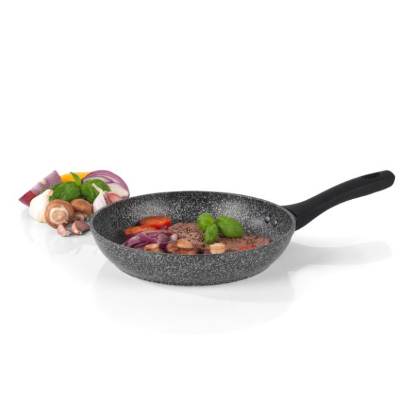 Salter BW05746S Megastone Non-Stick Forged Aluminium Frying Pan, 24 cm, Silver, Silver No Colour