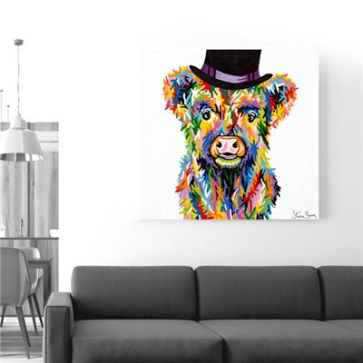 Steven Brown Baby McCoo 76 x 76cm Canvas