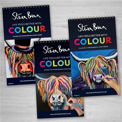 Steven Brown Colouring Book - Triple Pack