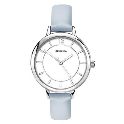 Sekonda Ladies White Dial Fashion Watch with Pu Strap