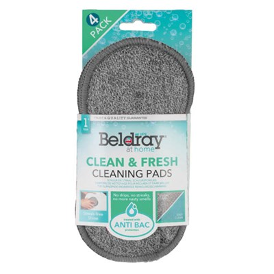 Beldray Clean & Fresh Anti Bac Cleaning Pads - Pack of 4