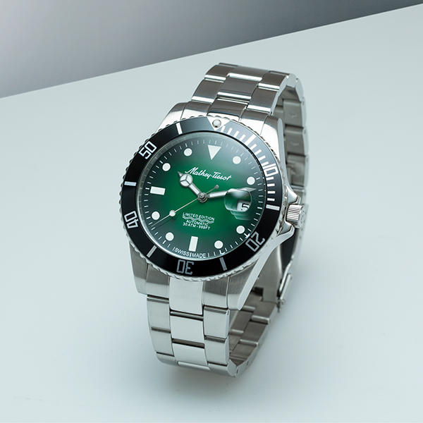 Image of Mathey Tissot Gents Swiss Ltd Ed Rolly Tiger Dial Automatic Watch with Stainless Steel Bracelet