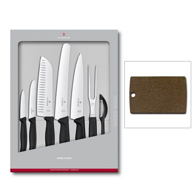 Victorinox Swiss Classic Kitchen Knife 7-Piece Set with Chopping Board