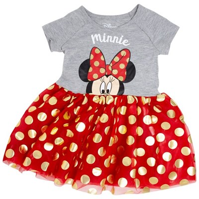 Minnie Mouse Bow Tie Youth Girls Dress