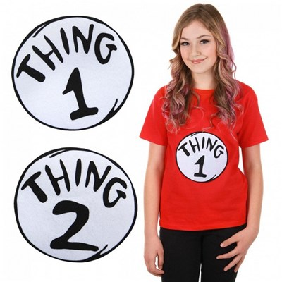 Dr. Seuss Thing 1 and 2 Patch Set
