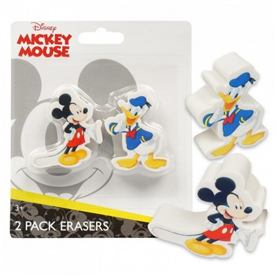 Mickey Mouse and Donald 2-Pack Eraser Set