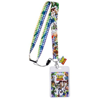 Toy Story Characters Lanyard with Card Holder and Charm