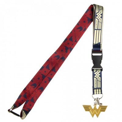 Wonder Woman 1984 Movie Repeating Symbol Pattern Lanyard