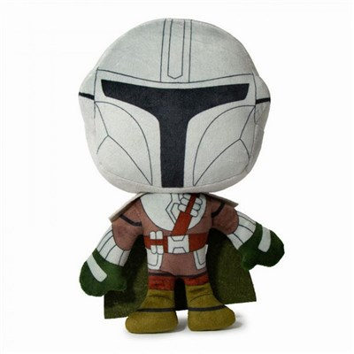 Star Wars Mandalorian Standing Pose Plush Squeaky Dog Toy