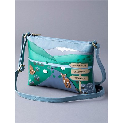 Lakeland Leather Lakes Deer Cross Body Bag