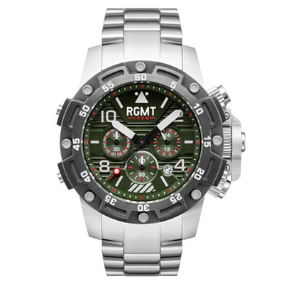 RGMT Gents Hercules Chronograph Watch with Stainless Steel Bracelet