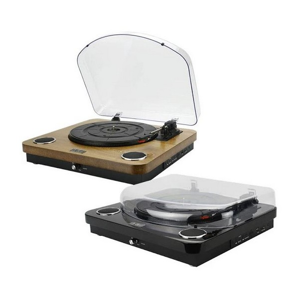 Aiwa GBTUR-120MKII All in one Turntable and Music Centre wireless Bluetooth v 5.0/Radio/Built in Amp/Stereo Speakers/SD Card Reader - Wood No Size Wood
