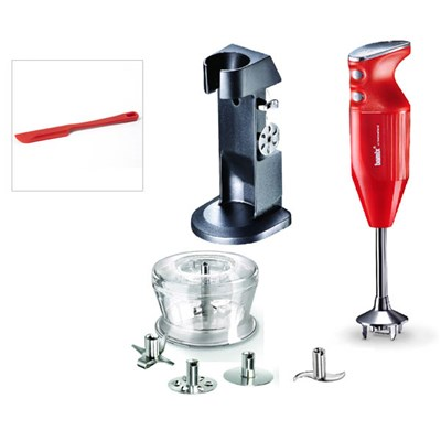 Bamix Deluxe 180W with Stand, 4 Blades inc. Multipurpose, Whisk, Beater & Meat, Dry Grinder, Spatula and Stand