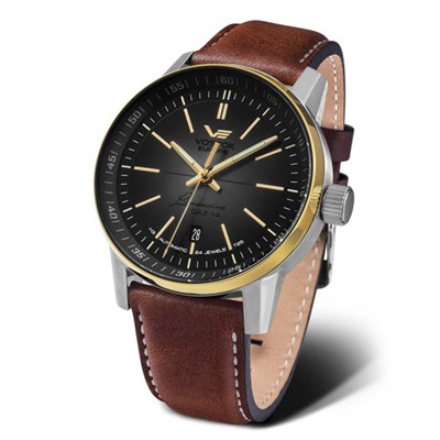 Vostok Europe GAZ-14 PVD Limousine, Automatic, Tritium Tubes on Genuine Leather Strap