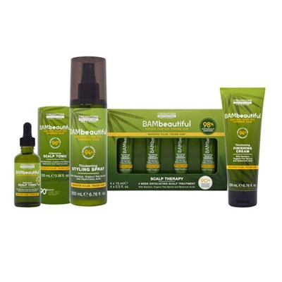 BAMbeautiful 4pc Collection - Supersize Scalp Tonic, Scalp Therapy and Styling