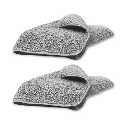 H2O Hook and Hold Cloths Grey - Pack of 2