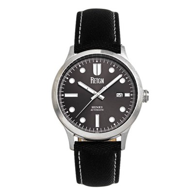 Reign Gents Henry Automatic Watch with Genuine Leather Strap & Complimentary Gifts