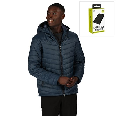 Regatta Mens Volter Loft Battery Heated Baffle Jacket with FREE Powerbank