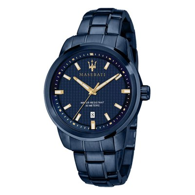Maserati Gents Blue Edtition Watch with Stainless Steel Bracelet