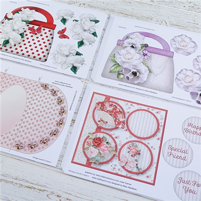 CraftsUPrint Floral Mini Kit - 72 Printed Sheets with Matching Downloads